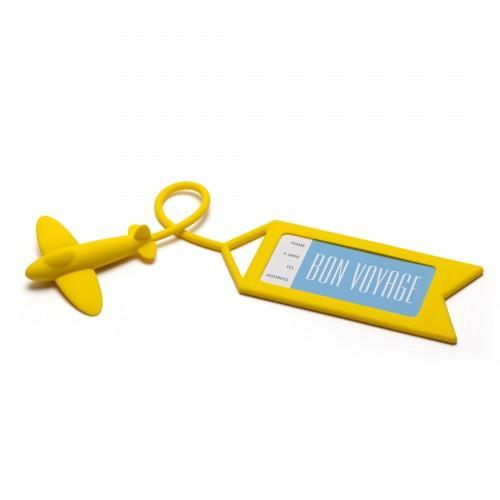 Etiquetas de equipaje Avión amarillo