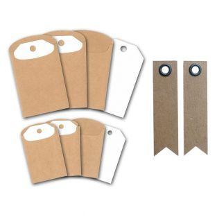 Kraft labels and sleeves  + 20...