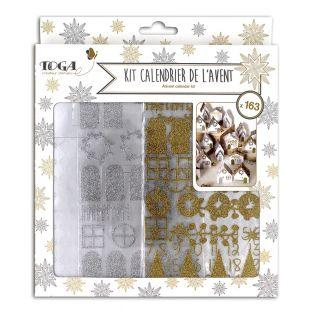 Advent calendar kit gold and silver