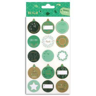 15 stickers for gift wrapping - Gold...