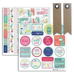 69 stickers for scrapbooking - Lama...
