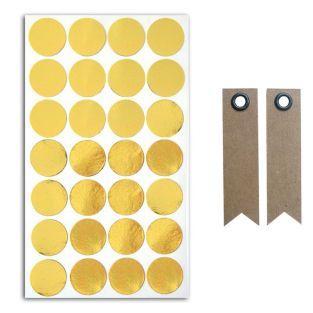 28 autocollants confettis dorés + 20...