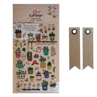 Stickers Botanique + 20 étiquettes...