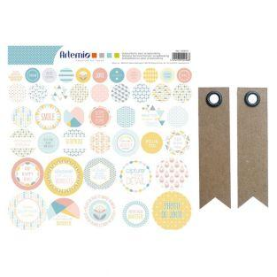 44 scandinavian scrapbooking stickers...