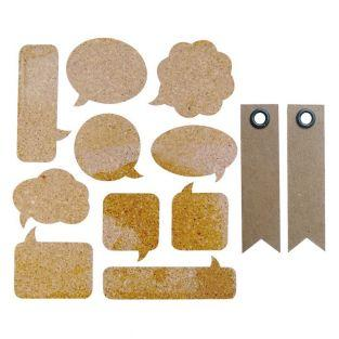 10 Cork Stickers - bubbles + 20...