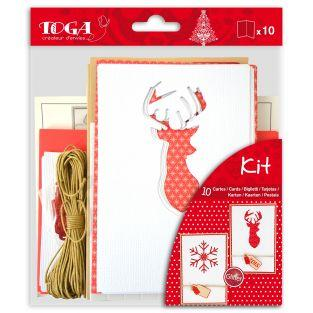 Set 10 cartes Noël Scandinave