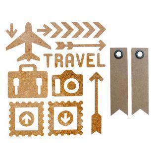 23 Stickers en liège voyage + 20...
