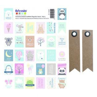 Stickers stamps - Adorable Animals +...