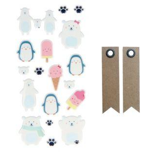 Puffies Stickers - Adorable Ice + 20...