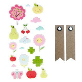 Puffies Stickers - Adorable Fruits +...