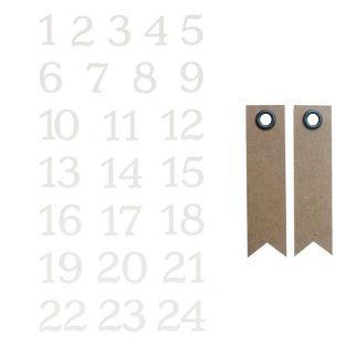 24 beflockte Aufkleber Zahlen - Misty...