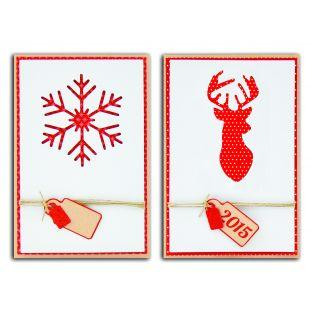 Set 10 cartes Noël Scandinave