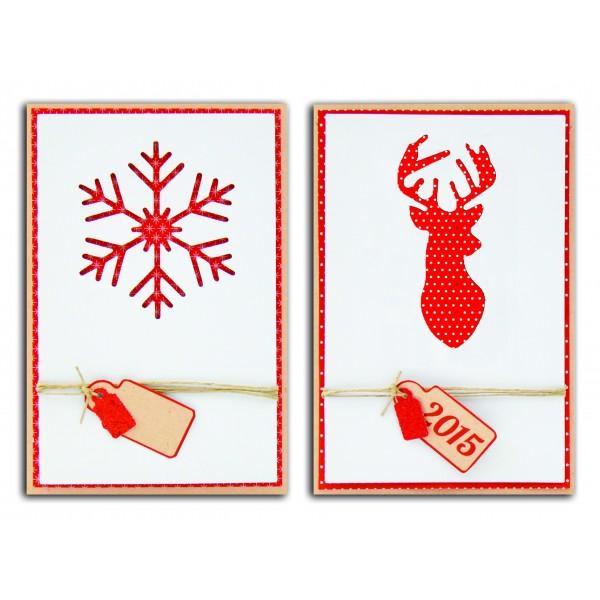 Set Of 10 Scandinavian Christmas Cards Scrapbooking