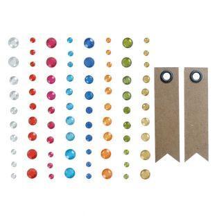 Perlas diamantes adhesivas + 20...