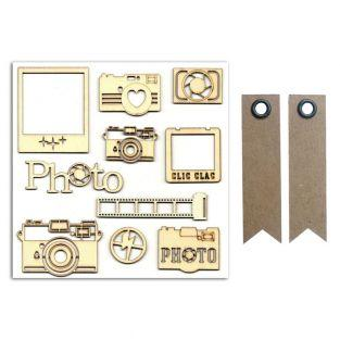 10 formes en bois Photo + 20...