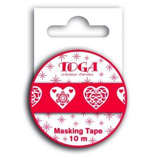 Masking tape Scandinavian red heart