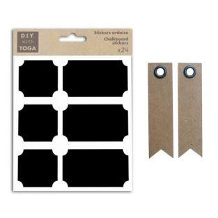 24 slate stickers - Squares &...