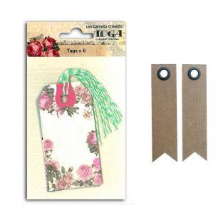 Romantic tags + 20 pennant kraft labels