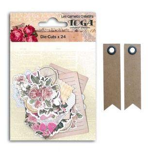Romantic Die-cuts + 20 pennant kraft...