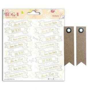 Stickers Wedding Save the date - 15 x...