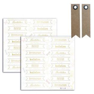 Goldene Aufkleber - Einladung - 15 x...