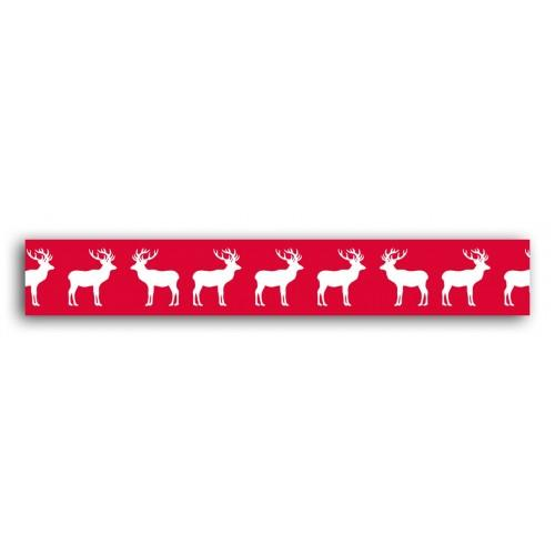 Cinta adhesiva roja Reno escandinavo - 10 m
