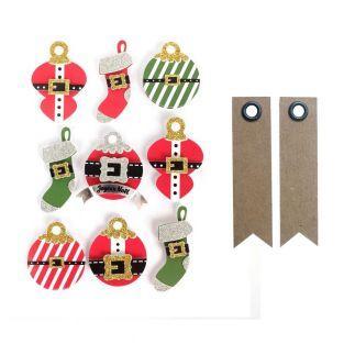 3D stickers Christmas balls 5 cm x 9...