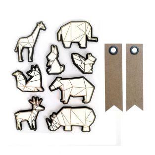 8 pegatinas 3D animales de zoológico...