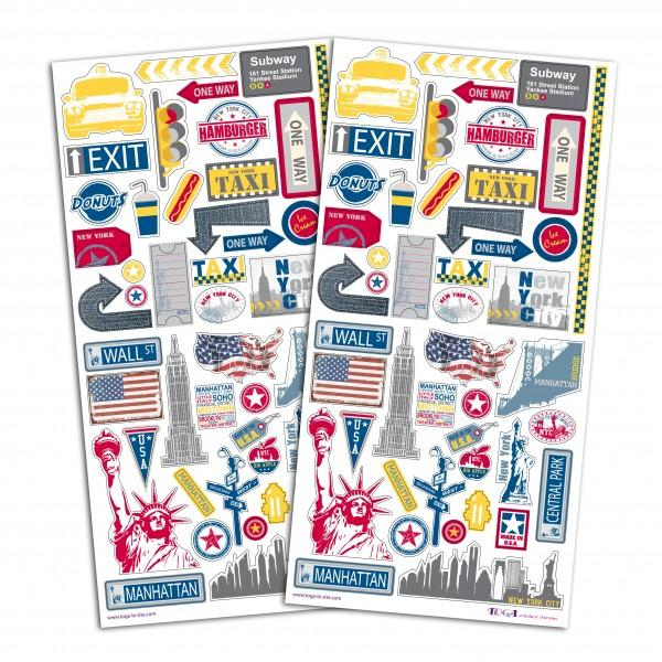 Stickers new york pour scrapbooking loisirs cr atifs for Autocollant mural new york
