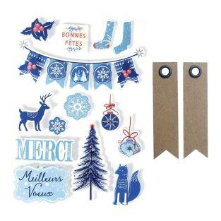 3D Christmas stickers x 14 - Frosted...