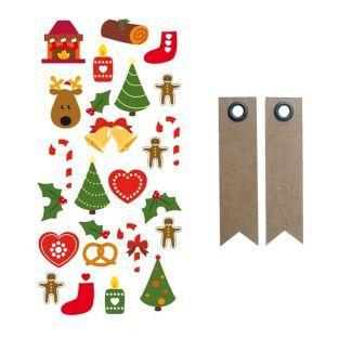 3D-Sticker Weihnachtsbäume + 20...