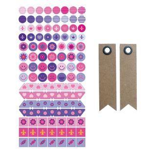 Mini Sticker - Princess + 20 Wimpel...