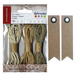 Hemp Twine + 20 pennant kraft labels
