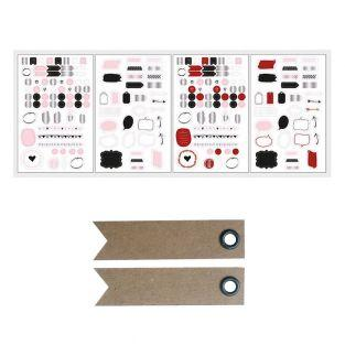 Bullet journal stickers - white, red,...