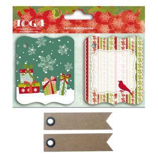 Etiquetas Navidad antiguo + 20...