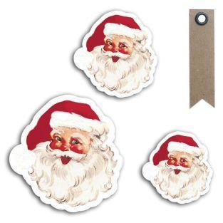 12 formes découpées Père Noël vintage...