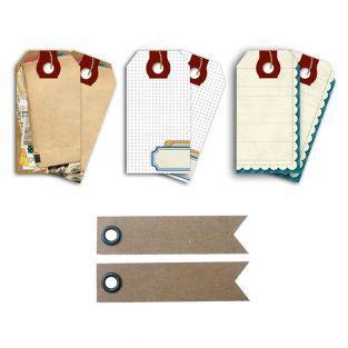 Scrapbooking Tags + 20 pennant kraft...