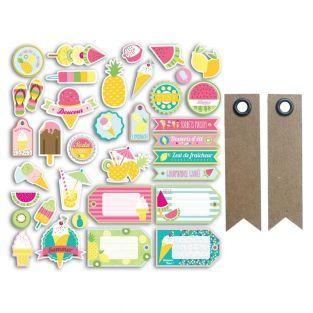 54 shapes cut - Summer + 20 pennant...