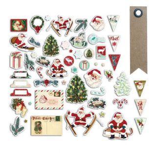 54 formes découpées Père Noël vintage...