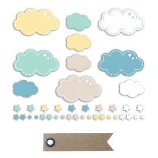 20 Die-Cuts aus Papier - Wolken &...