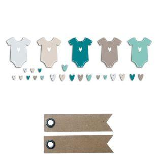 20 shapes cut baby body blue-gray +...
