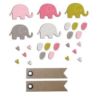20 formes découpées éléphants...