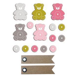 20 shapes cut teddy bear...
