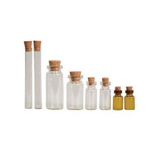 Kit 8 glass vials