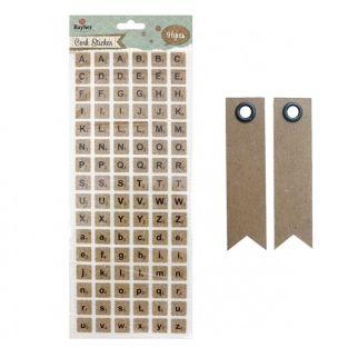 Scrabble cork stickers - Alphabet in...