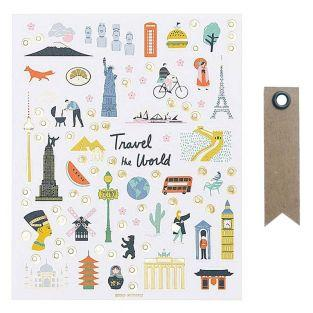 260 Stickers - Monuments of the World...