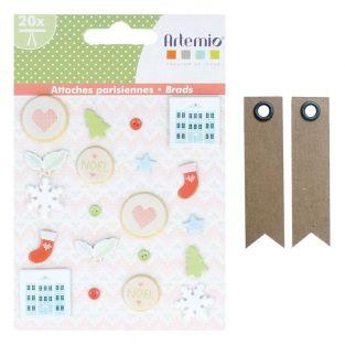 20 Brads for Christmas scrapbooking +...