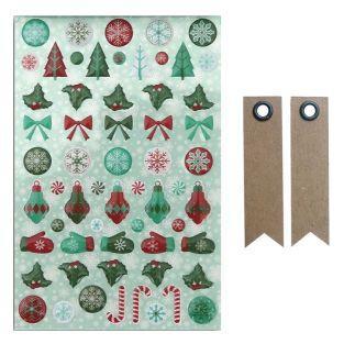 60 stickers epoxy Joyeux Noël + 20...