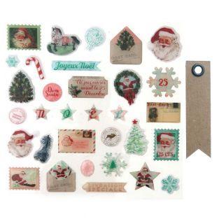 32 stickers epoxy Dear Santa + 20...