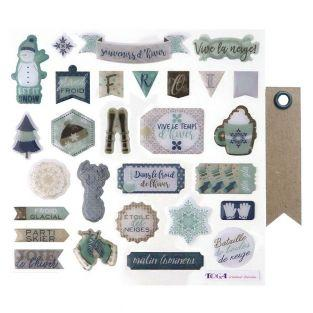 28 epoxy stickers for scrapbooking -...